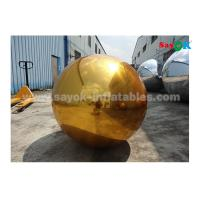 Buy cheap 1m PVC gold inflatable mirror ball for indoor decoration wedding party from wholesalers