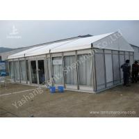 Quality White Lining Decorated Special Event Tents / Transparent Glass Wall Tents For Outdoor Events for sale