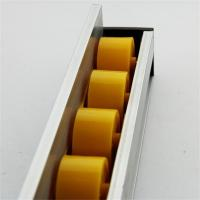 Buy cheap Higher Side Aluminum Extruded Shapes Track Yellow Wheel 4 M 34mm Diameter product