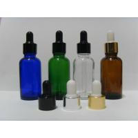Buy cheap FDA Free Lotion Glass Bottles With Silver Collar And White Bulb / Liquid Dropper Bottle product