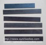 Perforated knife blade steel cutter dies, perforation steel blade wooden dies
