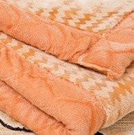 Buy cheap Comfortable Orange Woven Acrylic Mink Blanket Long Fibre For Airplane from wholesalers
