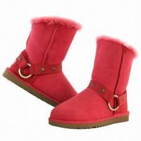 Buy cheap Nice Sheepskin Boots, Customized Colors are Accepted product
