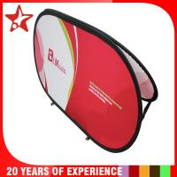 Buy cheap Oval Popup A Frame Banners Dye Sublimation Different Graphic Printing On Double Sides product