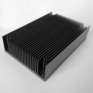 Buy cheap Black Anodized Aluminium Water Cooling Heatsink Profiles High Strength product