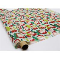 Gifts Paper Printed Decorative Wax Paper Santa Claus Pattern One Side Coating