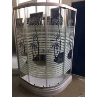 Buy cheap Palm Tree Shower Cabin With Tray , Bathroom Corner Shower Enclosures Pop - Up Waste Drain product