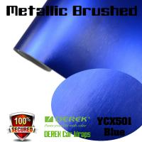 Buy cheap Matte Metallic Brushed Vinyl Wrapping Film - Matte Metallic Brushed Dark Blue product