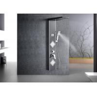 Buy cheap Luxury Black Brushed LED Shower Panel ROVATE With Hand Shower Temp Screen product