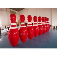 Buy cheap OEM Red  2m Tall Giant Blow Up Bowling Pins For Snow Sport Game product