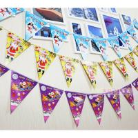 Buy cheap Customized Waterproof Advertising Flag Banners , Christmas Create Custom Flag Bunting product