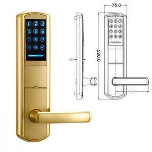 Buy cheap Chrome Zinc Alloy Handle Key Password Intelligent Door Lock product
