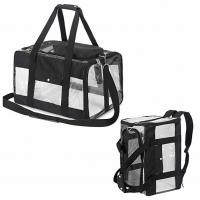 Buy cheap Safety Locked Zipper Airplane Dog Carrier Under Seat Pet Carrier Tote Black Color product
