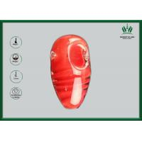 Buy cheap Red Amber Glass Smoking Tubes , Silicone Spoon Tobacco Tube Glass GP-070 from wholesalers