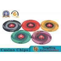Buy cheap Round Plastic Ceramic Blank Casino Poker Chips Sets , Colorful Polyspectra Chip product