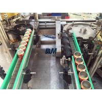 Quality Electric Driven 2 In 1 Monoblock Aluminum / Tin Can Filling Line With 12 Filling Heads for sale