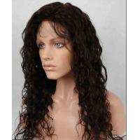 Quality Unprocessed 100% Indian Full Lace Human Hair Wigs kinky curly With Baby Hair for sale