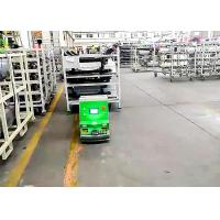 Buy cheap 2 Tons Loading Unidirectional Tugger AGV Cart For Washing Machine Line Long Working Time product