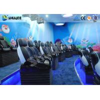 Buy cheap Midsize 4D Cinema System , Black and white Glass Fiber Reinforced Motion Chairs And Black Leather product