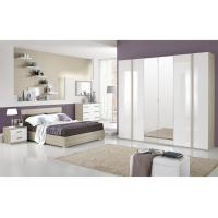 Buy cheap High Gloss Hotel Bedroom Furniture Sets , 6 Door Painting Melamine Wardrobes product