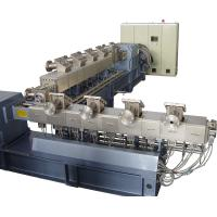 Buy cheap starch biodegradable plastic masterbatches twin screw extruder processing machine product