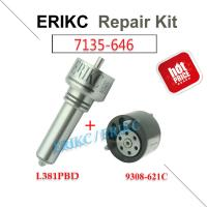 Buy cheap ERIKC 7135-646 delphi injector repair kit nozzle L381PBD valve 9308-621C diesel injection parts for EJBR05102D DACIA product