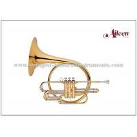 China Piston Valves Brass Musical Instruments Lacquered French Horn Music Instrument on sale