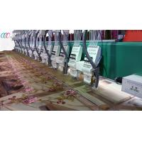 China 22 Heads High Speed 1200rpm Textile Embroidery Machine With Laiser Cutter on sale