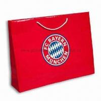 Buy cheap Paper Gift Bag with Red Tone, OEW Orders are Welcome product