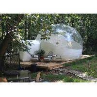 Buy cheap 4 M Inflatable Lawn Tent Clear Bubble , Inflated Bubble Tent With Frame Tunnel product
