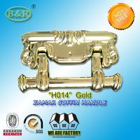Quality Size 22.5*13cm Ref H014 Gold Color Metal Coffin Handles Zamak  herrajes para ataudes for sale
