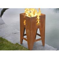 Buy cheap Durable Outdoor Corten Steel Fire Pit Barbecue Customized Size Available product