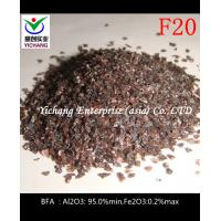 Buy cheap Sandblasted F16,F20 Brown Aluminum Oxide With Moderate Hardness product