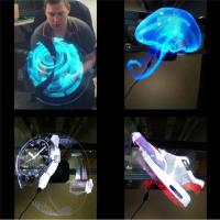 Buy cheap Electronic Hologram Projector 3D LED Holographic Advertising Display Fan 42cm Diameter product