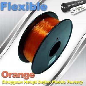 Buy cheap Orange 3.0mm / 1.75mm Rubber  Flexible 1.0KG / Rolls 3D Printer Filament product