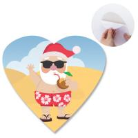 Quality Heidelberg Offset Printing 3D Lenticular Sticker With Heart Shape Die Cut For for sale
