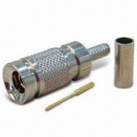 Buy cheap Coaxial Connector in 1.0/2.3 Type, Plug Crimp for RG174 product