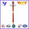 Quality 220KV Red Transmission Line Surge Arrester , Composite Polymer Lightning Arrestor for sale
