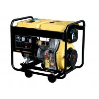 China 5000 W Silent Diesel Generator Set Yellow / Red Quiet Portable Generator on sale