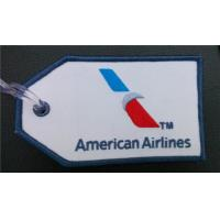 China Embroidered Air Plane American Airlines AA Luggage Tag on sale