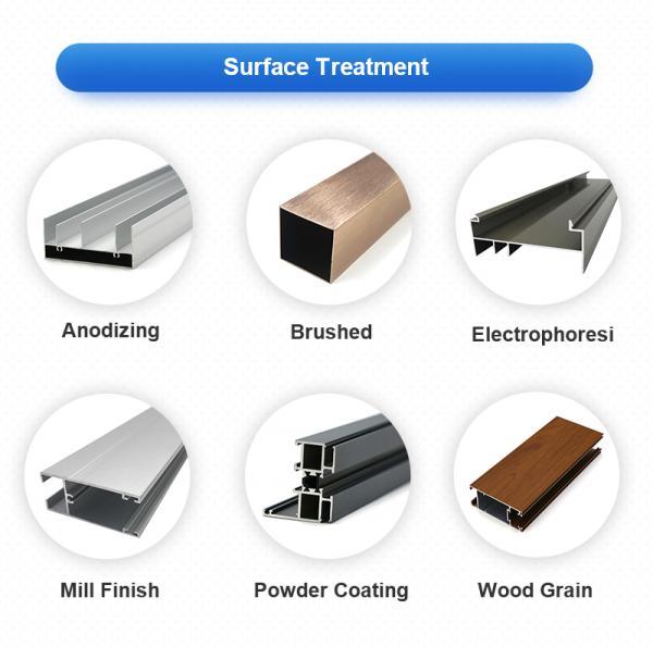 China factory aluminium frame extrusion aluminum profiles for window and door