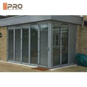 Buy cheap Durable Entrance Aluminum Folding Doors , Thermal Break Lowe Sound Insulation Bi Fold Door product