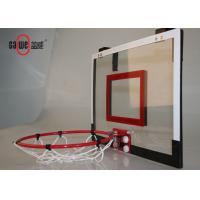 Door Mounted Mini Basketball Hoop Red Color Easy Set Up For Mobile Play