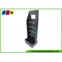 Buy cheap Black Printing Cardboard Floor Promotion Sales Display Stand With Plastic Pegs HD064 from wholesalers