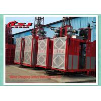 Quality Competitive prices 34m speed twin cage 2000kg capacity rack and pinion elevator for sale