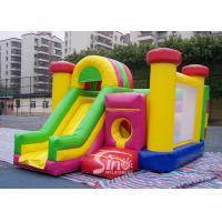 Buy cheap Outdoor Kids Inflatable Bouncy Castle With Slide And Pillars Inside Made Of Best Pvc Tarpaulin product