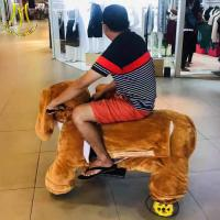 China Hansel shopping mall electric mountable animal plush ride on dogs on sale