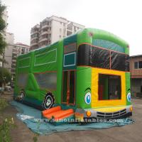Buy cheap Commercial grade giant bus inflatable bouncer with slide N pillars inside for kids fun entertainments product