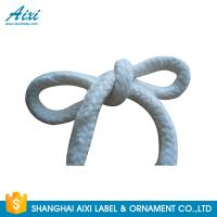 Buy cheap 100%  Printed Flat Cotton Elastic Cord Shoelace Cotton Webbing Straps product