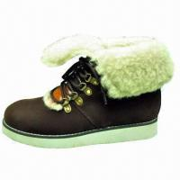 Buy cheap Fashion Unisex Suede Winter Casual Boots with Sheepskin Collar product
